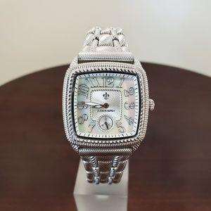 Judith Ripka 32mm Silver Stainless Steel Watch